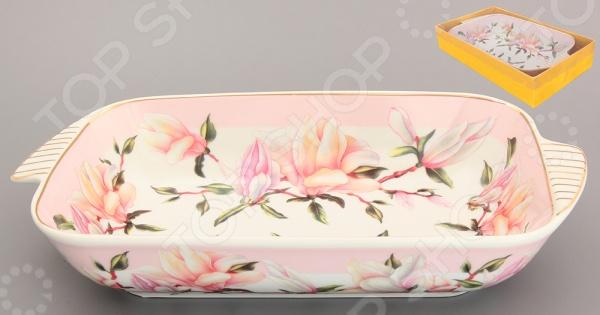 фото Блюдо-шубница Elan Gallery «Розовая орхидея», Салатницы