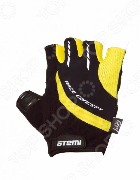 Перчатки велосипедные износостойкие Atemi AGC-03. Цвет: желтый Atemi - артикул: 642674