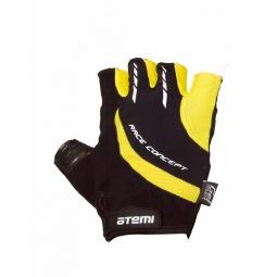 фото Перчатки велосипедные износостойкие Atemi AGC-03. Цвет: желтый. Размер: XL