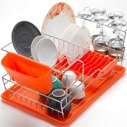 фото Сушилка для посуды Mayer&Boch Compact. Цвет: оранжевый