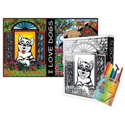 Купить Папка-раскраска Color Velvet «Собачки»