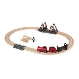 Купить Набор с паровозом и строящимся мостом Brio 33030