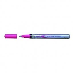 фото Маркер контурный двухцветный Pentel Qutine. Цвет: розовый, серебристый