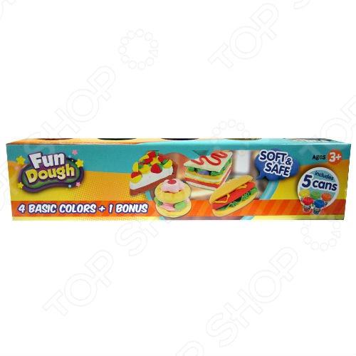 Набор пластилина Fun Dough 88005 всё для лепки fun dough набор пластилина 4 банки 1 бонус