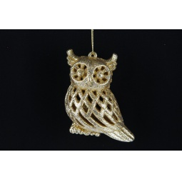 фото Елочное украшение Crystal Deco «Сова с золотым блеском»