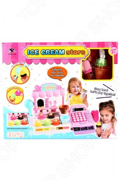 Игровой набор для девочки Shantou Gepai «Магазин мороженого»Сюжетно-ролевые наборы<br>Игровой набор для девочки Shantou Gepai Магазин мороженого - мечта любого ребенка. С этим уникальным набором ребенок сможет попробовать себя как в роли продавца, так и в роли мороженщика. Теперь сделать вкусное мороженое будет ещё проще, ведь для этого есть все необходимые аксессуары. Набор выполнен из высококачественного пластика, который совершено безопасен для детского здоровья. Игровой набор идеально подходит для сюжетно-ролевых игр и других интересных забав. С его помощью ребенок в простой игровой форме сможет развить мелкую моторику рук, координацию движений, фантазию, воображение и коммуникативные навыки. Порадуйте вашу малышку этим удивительным игровым набором Shantou Gepai Магазин мороженого !<br>