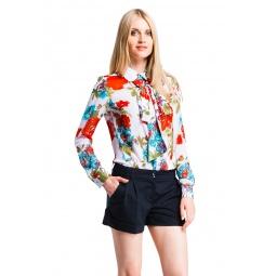 фото Блузка Mondigo 5048-5. Цвет: белый. Размер одежды: 44