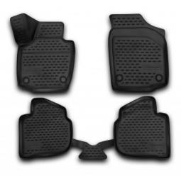 Комплект ковриков в салон автомобиля Novline-Autofamily Honda Jazz 2009. Цвет: черный - фото 3