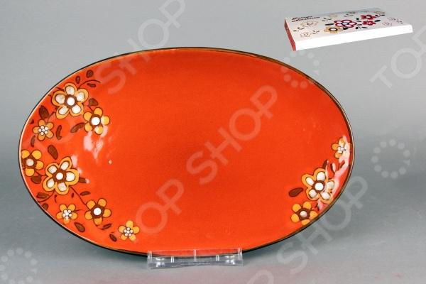 фото Блюдо овальное Коралл «Каменный цветок 1», Сервировочные блюда