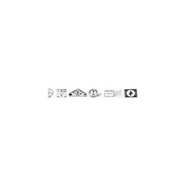 фото Скотч бумажный с рисунком Rayher «Штампы и марки»