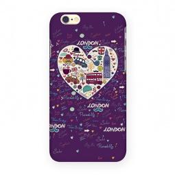 фото Чехол для iPhone 6 Mitya Veselkov London «Сердце». Цвет: фиолетовый