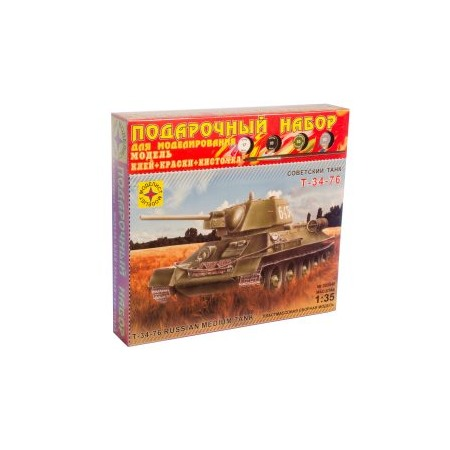 Купить Подарочный набор сборной модели танка Моделист «Т-34-76» 1942 г