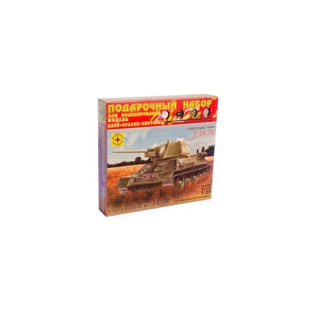 фото Подарочный набор сборной модели танка Моделист «Т-34-76» 1942 г