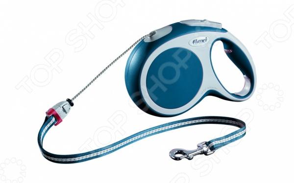 Поводок-рулетка Flexi VARIO M. Цвет: синий