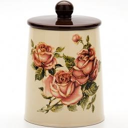 Купить Банка для сыпучих продуктов Loraine LR-21681 «Розы»