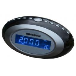 фото Радиочасы c термометром ERISSON RC-2202A. Цвет: черный