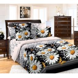 фото Комплект постельного белья ТексДизайн «Любимые ромашки». Евро