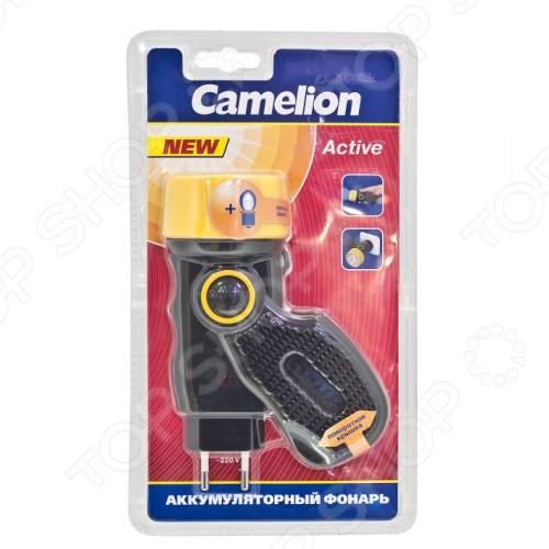 Фонарик аккумуляторный Camelion C-2801Туристические фонари<br>Фонарик аккумуляторный Camelion C-2801 компактный фонарь с аккумулятором и запасной лампой, корпус которого выполнен из ударопрочного материала. В фонарь встроена вилка для прямой зарядки с сети. Фонарь можно носить в кармане, поместиться в кармашке сумки или рюкзака. Используется практически везде: в строительных работах, на темных чердаках или на природе.<br>
