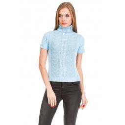 фото Свитер вязаный Mondigo 9004. Цвет: голубой. Размер одежды: 42
