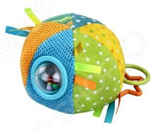 Мягкая игрушка развивающая Жирафики «Цветной мячик». В ассортиментеМягкие развивающие игрушки<br>Товар продается в ассортименте. Цвет товара при комплектации заказа зависит от наличия товарного ассортимента на складе. Развивающая игрушка мягкая Жирафики Цветной мячик забавная, выполненная в ярких тонах игрушка, которая будет тренировать восприятие и координацию движений вашего ребенка. Внутри прозрачного шарика спрятаны гремящие элементы. Игры с ней будут способствовать развитию у малыша мелкой моторики рук, хватательного рефлекса и координации движения.<br>
