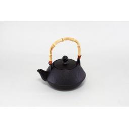 фото Чайник заварочный Stahlberg с бамбуковой ручкой. Цвет: черный