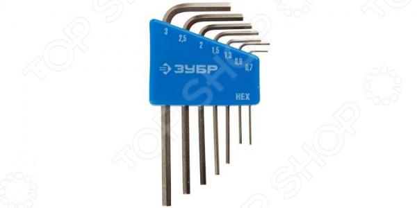 Набор ключей имбусовых для точных работ Зубр «Эксперт Мини» 27477-H8 набор ключей имбусовых коротких зубр мастер 27460 1 z02