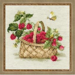 фото Набор для вышивания крестиком Сотвори Сама «Малина в лукошке»