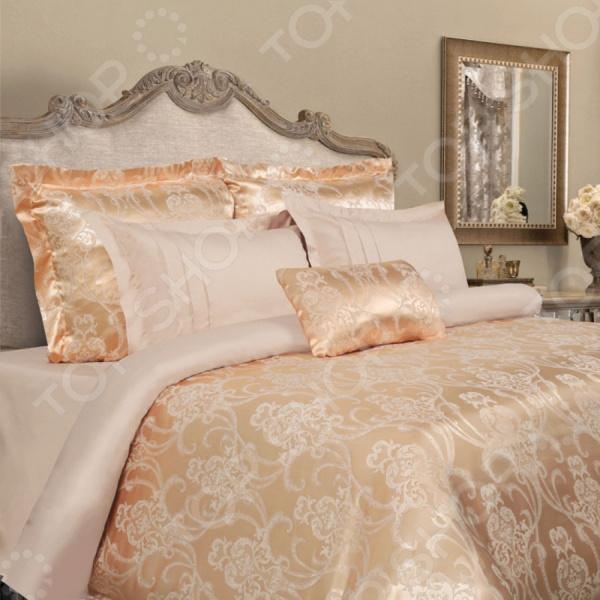 Комплект постельного белья Mona Liza Madam Gisele. 2-спальный2-спальные<br>Комплект постельного белья Mona Liza Madam Gisele с уникальными узорами для создания уюта и украшения комнаты. Человек треть своей жизни проводит в постели, и от ощущений, которые вы испытываете при прикосновении к простыням или наволочкам, многое зависит. Чтобы сон всегда был комфортным, а пробуждение приятным, мы предлагаем вам этот комплект постельного белья. Комплект из коллекции элитного постельного белья, созданное из высококачественной хлопковой и вискозной ткани с добавлением нанотехнологичной силиконизированной нити, которая не уступает шелку. Прошивается исключительно бельевым швом и крепкими нитками в тон комплекта. Преимущества постельного белья:  Мягкая, гладкая поверхность ткани.  Шелковистость, прочность и гидроскопичность.  Изысканный рельефный рисунок и приятные оттенки. Пошив:  Наволочки с ушками 5 см, клапан 25 см.  Простыня сатин однотонный.  Пододеяльник верх жаккард тутон, низ сатин однотонный.  Пододеяльник на пуговицах.<br>