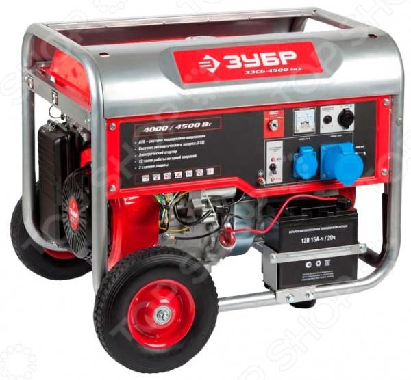 Генератор бензиновый Зубр ЗЭСБ-4500 б у морозильные камеры витрины