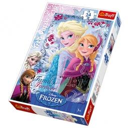 Купить Пазл 24 элемента Trefl «Сестры из Снежной страны» 14225