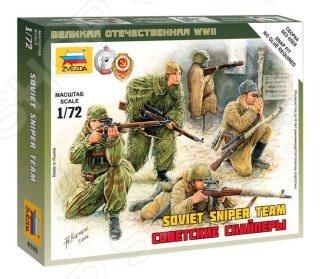 Набор сборных фигурок Звезда Советские снайперы сборные фигурки в виде советских снайперов. В наборе находится 4 фигурки, среди которых есть девушка-снайпер. Фигурки выполнены из качественного и прочного материала. Каждый снайпер оснащен оружием. Вооружены фигурки винтовками Мосина, СВТ-40 и пистолета-пулемета ППШ-41. В наборе также находятся декоративные элементы местности. Такой набор понравится каждому мальчишке и позволит весело и увлекательно провести досуг.