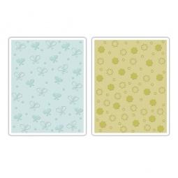 фото Набор форм для эмбоссирования Sizzix Textured Impressions Бабочки и цветочки