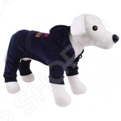 Костюм спортивный для собак DEZZIE «Стар»Попоны<br>Костюм спортивный для собак DEZZIE Стар согреет вашего любимца в холодное время года. В нем ваш любимец будет защищен от переохлаждений и загрязнений шерсти. В таком костюме ваш питомец будет самым модным и стильным на прогулке. Оригинальный яркий рисунок обязательно понравится не только владельцу собаки, но и всем окружающим.<br>