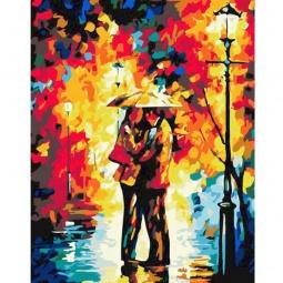 фото Набор для раскрашивания по номерам Белоснежка «Поцелуй под дождем»