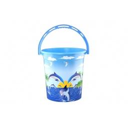 Купить Ведро круглое детское Violet 0112БК «Дельфин»