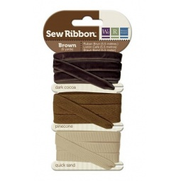 фото Набор декоративных лент We R Memory Keepers SewRibbon. Цвет: коричневый