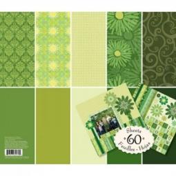 Купить Набор бумаги для скрапбукинга K&Company «Зеленый тон»