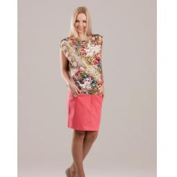 Купить Юбка для беременных Nuova Vita 6107.1. Цвет: коралловый