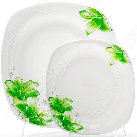 Набор тарелок Loraine LR-23689Наборы посуды для сервировки<br>Набор тарелок Loraine LR-23689 станет отличным дополнением к набору посуды и внесет яркий акцент в сервировку как повседневного, так и праздничного стола. В комплект входят шесть маленьких и одна большая тарелка. Посуда выполнена из высококачественного стекла и декорирована оригинальным цветочным рисунком. Торговая марка Loraine это синоним первоклассного качества и стильного современного дизайна. Компания занимается производством и продажей кухонных инструментов, аксессуаров, посуды и т.д. Функциональность, практичность и инновационные решения вот основные принципы торгового бренда Loraine.<br>