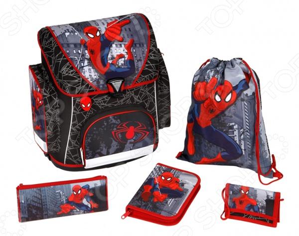 Ранец с аксессуарами Scooli Spider Man SP13825
