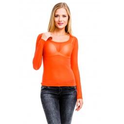 фото Кофта Mondigo 192. Цвет: коралловый. Размер одежды: 46