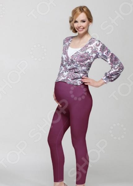 Леггинсы для беременных Nuova Vita 5202.18. Цвет: фиолетовый aibo подходит для беременных женщин беременных женщин леггинсы стрейч брюки проп живот беременных брюки m402 светло серый l
