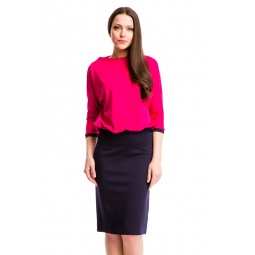 фото Платье Mondigo 25174-2. Цвет: ярко-розовый. Размер одежды: 50