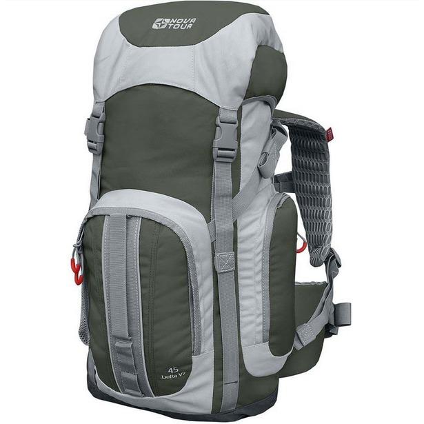 """фото Рюкзак туристический """"Дельта 45 V2"""". Цвет: оливковый, серый"""