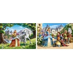 Купить Набор пазлов 2 в 1 Castorland «Принцессы»
