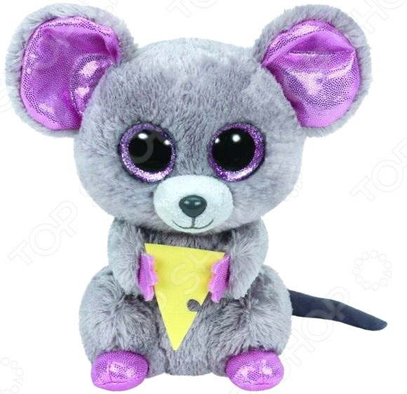 Мягкая игрушка TY Squeaker «Мышонок с кусочком сыра»Мягкие игрушки<br>Мягкая игрушка TY Squeaker Мышонок с кусочком сыра это замечательный подарок для вашей малышки! Забавный зверек с большими ушками и добрыми глазками украсит любую детскую комнату и принесет радость и веселье во время игр. Милый мышонок станет лучшим другом, с которым не захочется расставаться даже перед сном. У него есть свой паспорт в виде сердечка, в котором написано имя, дата рождения и несколько строк в стихотворной форме. Игрушка изготовлена из высококачественного гипоаллергенного текстиля, а фурнитура выполнена из пластика. Набивкой служат мягкие гранулы. Все материалы абсолютно безвредны для здоровья, не выгорают на солнце и устойчивы к внешним воздействиям. Мягкая игрушка TY Squeaker Мышонок с кусочком сыра поможет развить воображение, тактильные навыки, зрительную координацию и мелкую моторику рук. Кроме того, тренируется наблюдательность, образное восприятие и логическое мышление.<br>