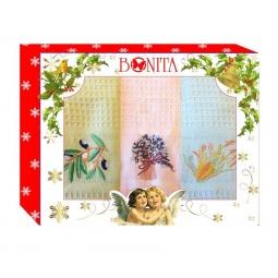 фото Комплект из 3-х вафельных полотенец подарочный BONITA «Греция»