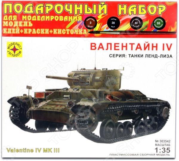 Сборная модель танка Моделист «Валентайн IV» сборная модель italeri самолет stirling mk iv 1350