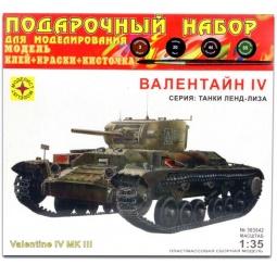 фото Сборная модель танка Моделист «Валентайн IV»