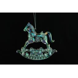фото Елочное украшение Crystal Deco «Лошадка-каталка». Цвет: хамелеон